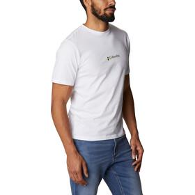Columbia CSC Basic Logo Camiseta Manga Corta Hombre, white csc retro